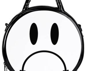 Handtasche Sad in schwarz-weiß von Killstar
