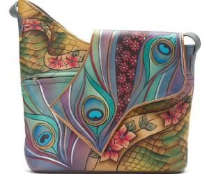 Handbemalte Tasche von Anuschka
