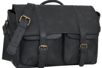 Gusti Leder Kameratasche in schwarz