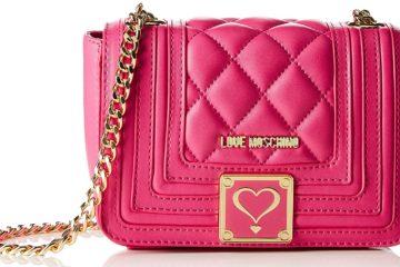Schultertasche von LOVE MOSCHINO in Pink.