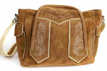 Die MONI Trachtentasche von Almbock in Braun.