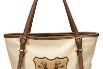 Trachten-Handtasche von Alpenflüstern in beige