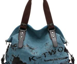 Blaue Tasche aus Canvas von DoubleMay