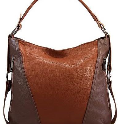 Braune Schultertasche Tina Rock von Monte Carlo Bags