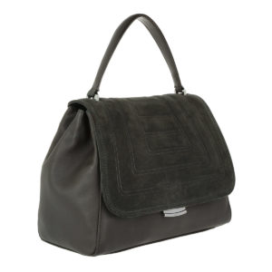 Die QUILTED Satchel Bag von Abro in Grau.