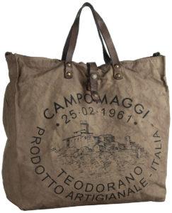 Die SESIA Canvas Bag von Campomaggi in Blau