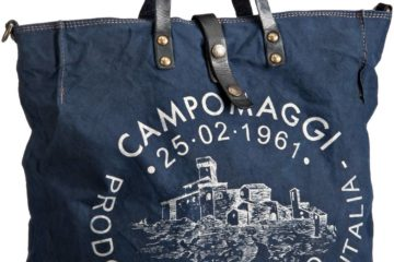 Die SESIA Canvas Bag von Campomaggi in Blau