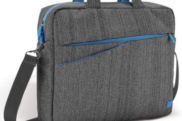Laptoptasche aus grauem Stof von deleyCon