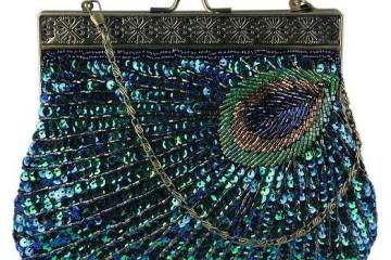 blaue Clutch von Ecosusi
