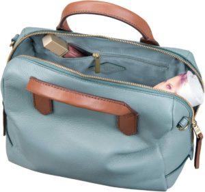 Die FIONA Satchel Bag von Fossil in Hellblau