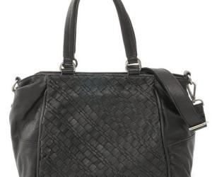 Schwarze Handtasche Boxy Weave von FredsBruder
