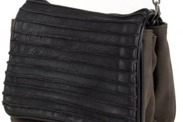 schwarz graue Messangerbag-Handtasche von FredsBruder