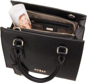 Die CHARME Satchel Bag von Guess in Braun.