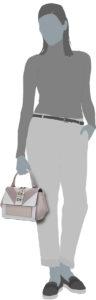 Die EVETTE Handtasche von Guess in Mauve.