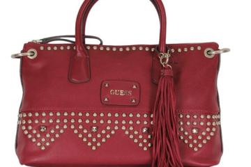 GUESS Pavilla satchel Ruby Handtasche