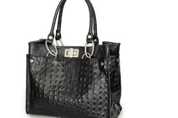 Italienische Handtasche von IO.IO.MIO Borsetta per le Icone in schwarz