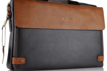 schwarz-braune Laptoptasche von JAMMYLIZARD