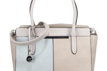 Die DIANA Handtasche von L.Credi in Grau/Beige.