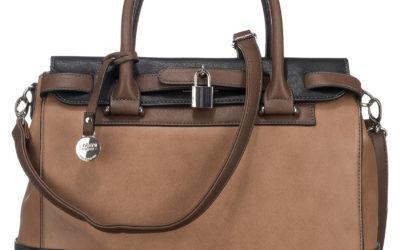 Die NATHALIE Handtasche von L.CREDI in Braun.
