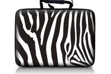 Die Laptoptasche von Luxburg in Zebra-Look