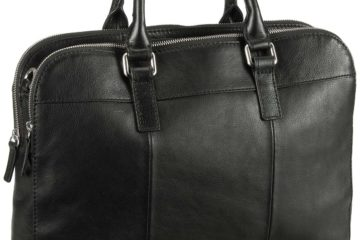 Die MERCER Top Zip Workbag von Fossil in Schwarz.