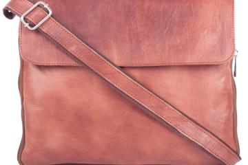 Lachsfarbene Laptoptasche von MYLEATHERBAG
