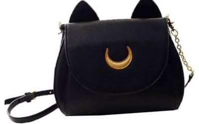 Schwarze Katzentasche von niceEshop im Japan-Design