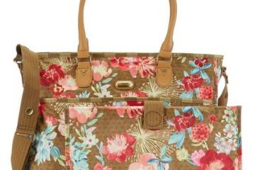 Goldene Wickeltasche mit Blumen von Oilily