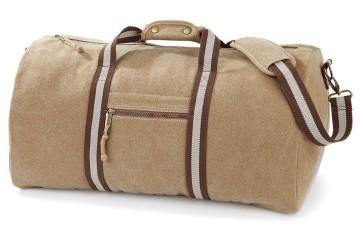 Quadra Reisetasche Desert Canvas Holdall QD613 aus Baumwolle