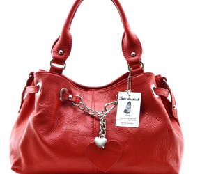 Rote Handtasche aus Leder von Sac-Destock