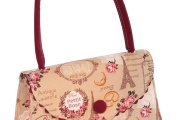 Retro Tasche von SugarShock mit Paris-Muster