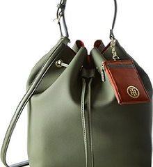 Die Novelty Bucket Bag von Thommy Hilfiger in Khaki