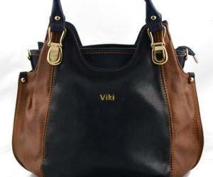 Schwarzbraune Handtasche von Viki